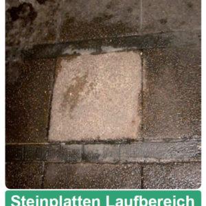 Steinplatten Laufbereich